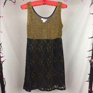 Hold and Black Shimmer and Lace Dress